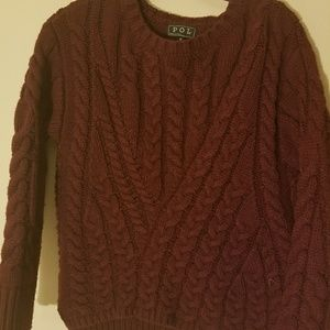 Wine Red knitted sweater